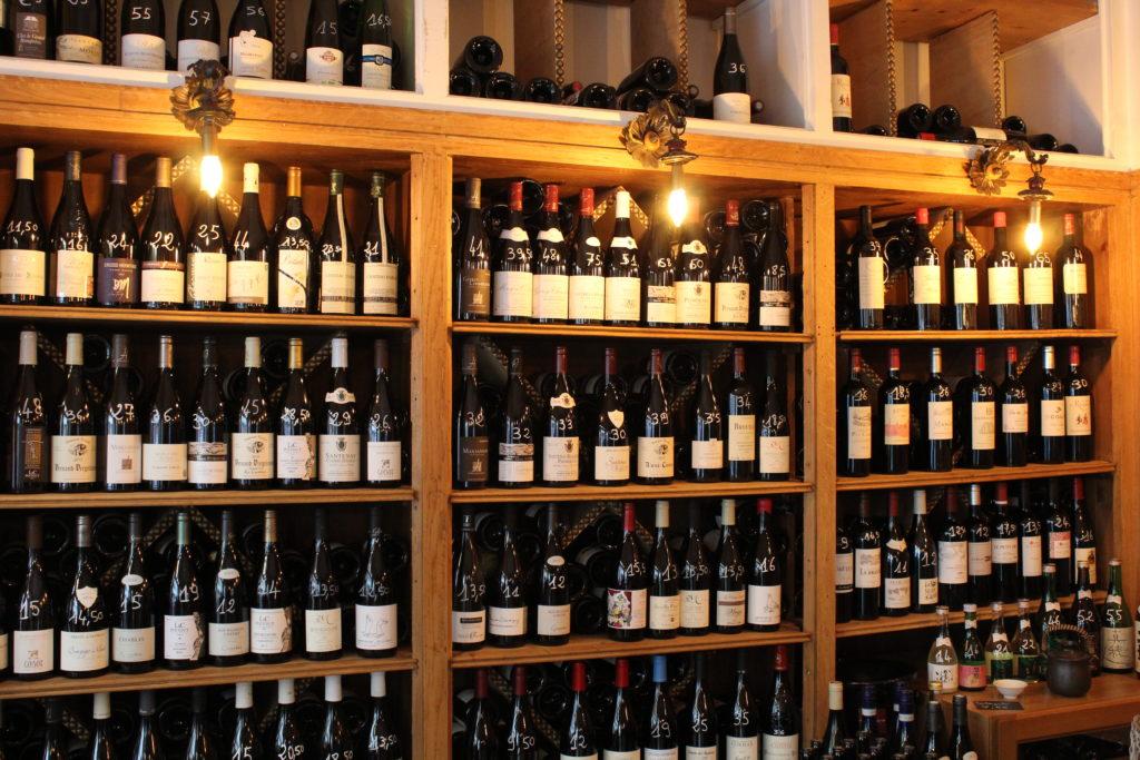Les Larmes du Vin, la cave